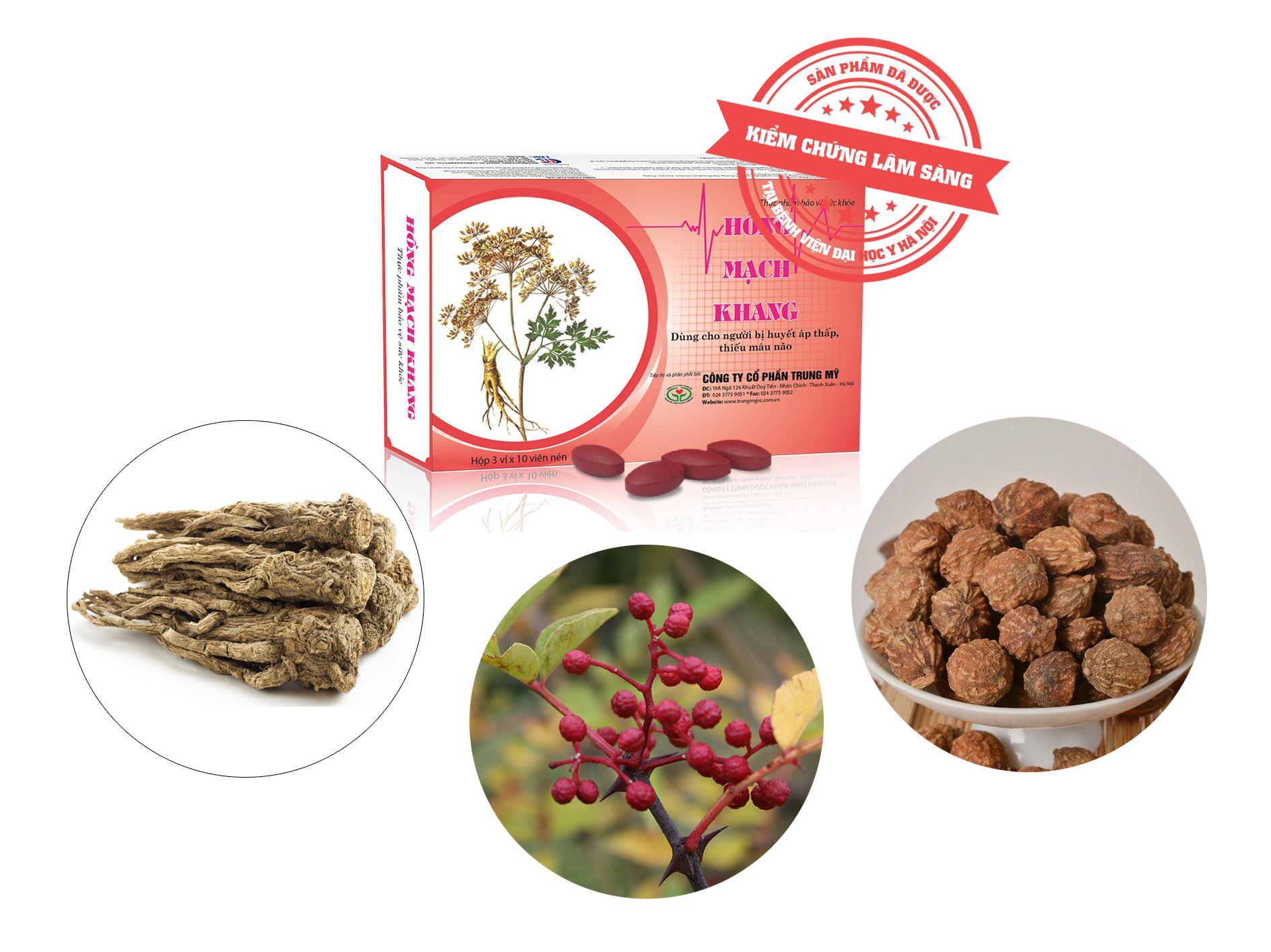 Hồng Mạch Khang – Viên uống thảo dược dành cho người thiếu máu não
